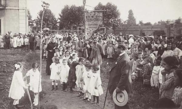 Festa de l'arbre a Sant Andreu del Palomar.1913