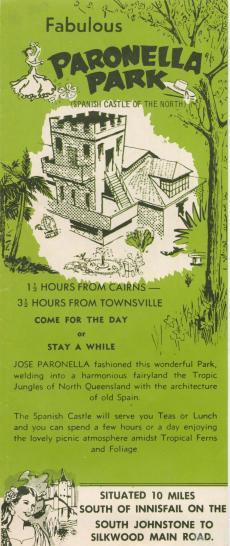Paronella Park. Publicitat de 1953