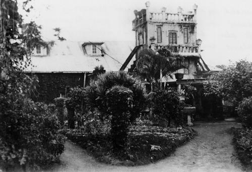 View of Paronella Park from the garden ca. 1940
