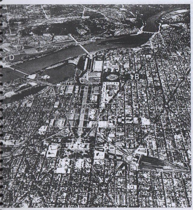 Washington, vista aerea mirando hacia el oeste