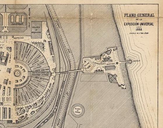 Plano detall Secció Marítima del Parc, 1888