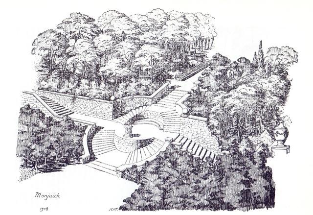 Escala circular. Montjuïc. Forestier