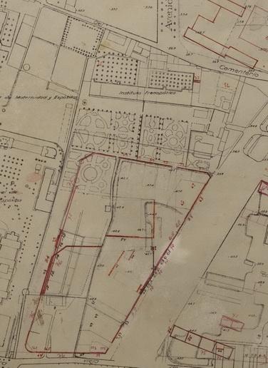 1931 Planejament previst per a la zona de jardins del Frenopatic. Ajuntament de Barcelona. resize