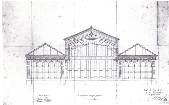 Rrojecte Hivernacle del Parc, 1887. Josep Amargós. COAC