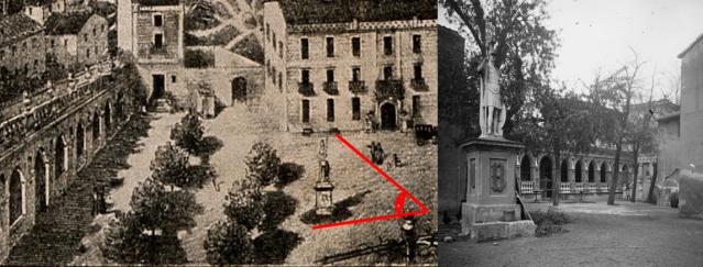 Composició que confirma la fidelitat del gravat de 1890 amb la fotografia obtinguda el 1923