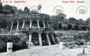 1905 c. Miranda del Park Güell, obra de Antoni Gaudí.
