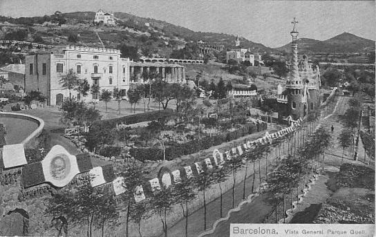 1910 Barcelona España Vista General Parque Guell ca 1910-1 BiN